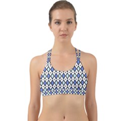 Blue Jess Back Web Sports Bra by jumpercat