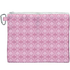 Pattern Pink Grid Pattern Canvas Cosmetic Bag (xxxl)
