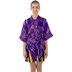Space Trip 1 Quarter Sleeve Kimono Robe by jumpercat