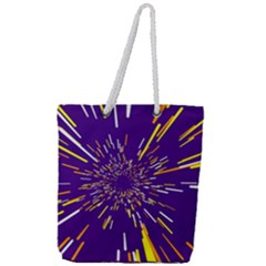 Space Trip 1 Full Print Rope Handle Tote (large) by jumpercat