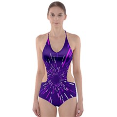 Space Trip 2 Cut Out One Piece Swimsuit