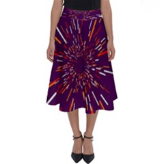 Space Trip 4 Perfect Length Midi Skirt