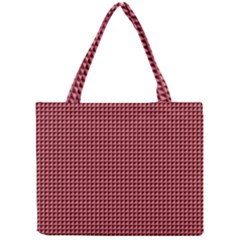 Red Triangulate Mini Tote Bag by jumpercat
