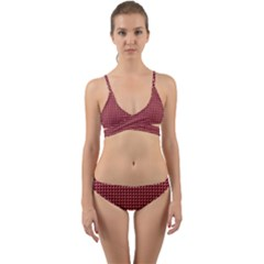 Red Triangulate Wrap Around Bikini Set