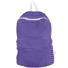 Purple Triangulate Foldable Lightweight Backpack