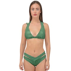 Green Triangulate Double Strap Halter Bikini Set by jumpercat