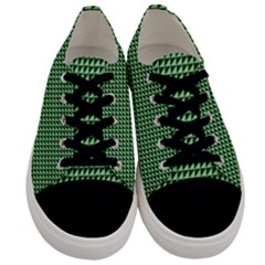 Green Triangulate Men s Low Top Canvas Sneakers