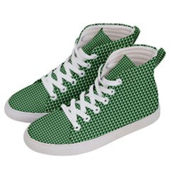 Green Triangulate Men s Hi-top Skate Sneakers by jumpercat