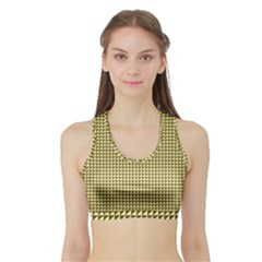 Ocre Triangulate Sports Bra With Border by jumpercat
