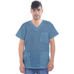 Blue Triangulate Men s V Neck Scrub Top