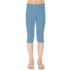 Blue Triangulate Kids  Capri Leggings
