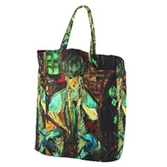Girl In A Bar Giant Grocery Zipper Tote by bestdesignintheworld