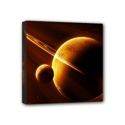 Planets Space Mini Canvas 4  X 4  by Sapixe