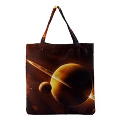 Planets Space Grocery Tote Bag