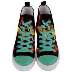 Planets Space Women s Mid Top Canvas Sneakers