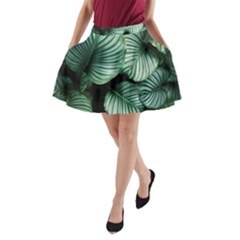 Tropical Florals A Line Pocket Skirt by goljakoff