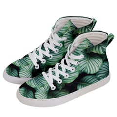Tropical Florals Women s Hi Top Skate Sneakers by goljakoff