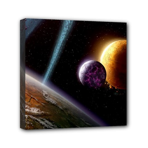 Planets In Space Canvas Travel Bag