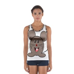 Raton Mouse Christmas Xmas Stuffed Animal Sport Tank Top  by Sapixe