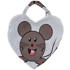 Raton Mouse Christmas Xmas Stuffed Animal Giant Heart Shaped Tote by Sapixe