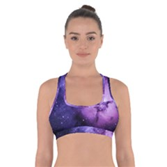Purple Space Cross Back Sports Bra