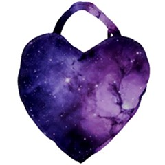 Purple Space Giant Heart Shaped Tote