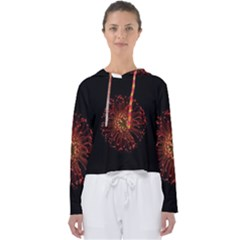Red Flower Blooming In The Dark Women s Slouchy Sweat by Sapixe