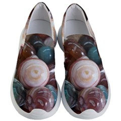 Rain Flower Stones Is A Special Type Of Stone Found In Nanjing, China Unique Yuhua Pebbles Consistin Women s Lightweight Slip Ons by Sapixe