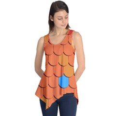 Roof Brick Colorful Red Roofing Sleeveless Tunic