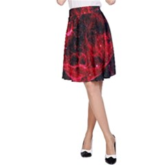 Red Nebulae Stella A Line Skirt
