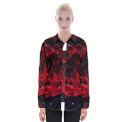 Red Nebulae Stella Womens Long Sleeve Shirt