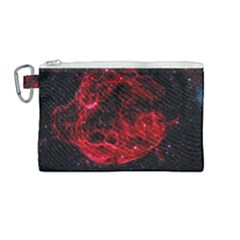 Red Nebulae Stella Canvas Cosmetic Bag (medium) by Sapixe