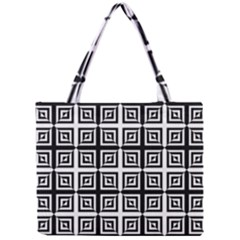 Seamless Pattern Background Black And White Mini Tote Bag by Sapixe