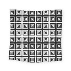 Seamless Pattern Background Black And White Square Tapestry (small)