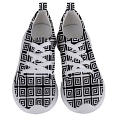 Seamless Pattern Background Black And White Women s Lightweight Sports Shoes