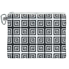 Seamless Pattern Background Black And White Canvas Cosmetic Bag (xxl)