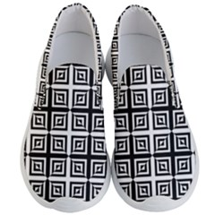 Seamless Pattern Background Black And White Men s Lightweight Slip Ons by Sapixe