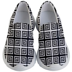 Seamless Pattern Background Black And White Kid s Lightweight Slip Ons by Sapixe