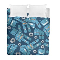 Seamless Pattern Robot Duvet Cover Double Side (full/ Double Size)