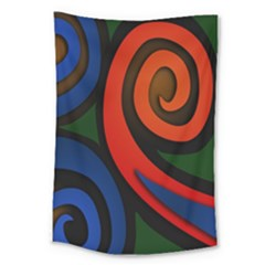Simple Batik Patterns Large Tapestry by Sapixe