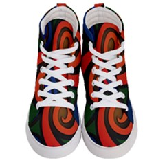 Simple Batik Patterns Men s Hi Top Skate Sneakers