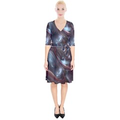 Shells Around Tubes Abstract Wrap Up Cocktail Dress