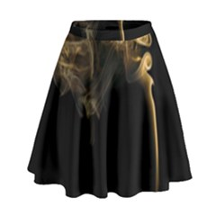 Smoke Fume Smolder Cigarette Air High Waist Skirt by Sapixe