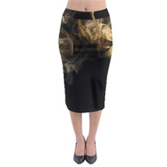 Smoke Fume Smolder Cigarette Air Midi Pencil Skirt by Sapixe