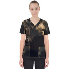 Smoke Fume Smolder Cigarette Air Scrub Top