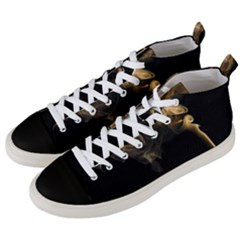 Smoke Fume Smolder Cigarette Air Men s Mid Top Canvas Sneakers by Sapixe