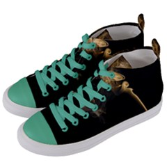 Smoke Fume Smolder Cigarette Air Women s Mid Top Canvas Sneakers by Sapixe