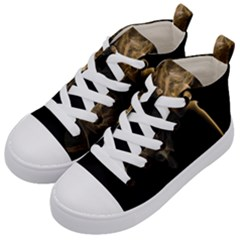 Smoke Fume Smolder Cigarette Air Kid s Mid Top Canvas Sneakers by Sapixe
