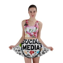 Social Media Computer Internet Typography Text Poster Mini Skirt by Sapixe