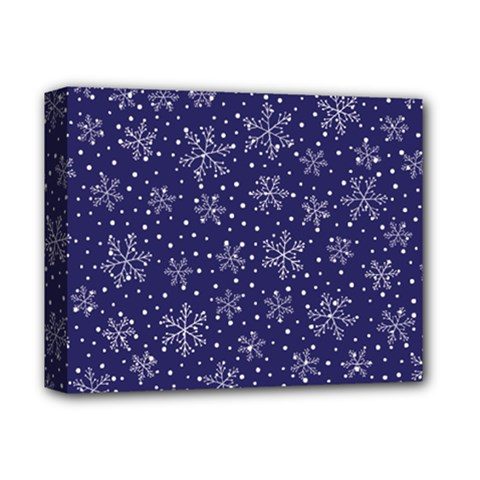 Snowflakes Pattern Deluxe Canvas 14  X 11  by Sapixe